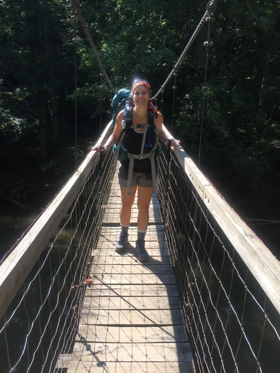 The Suspension Bridge Across the River