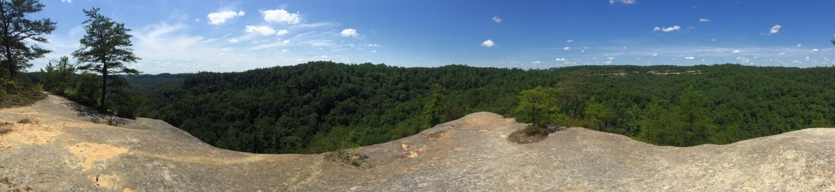 Panoramic view atop the Cloud Splitter
