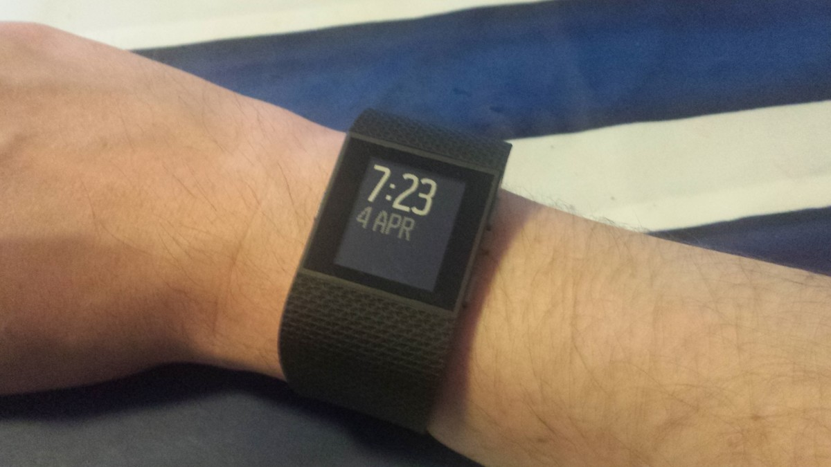 My new wrist addition, my Fitbit Surge
