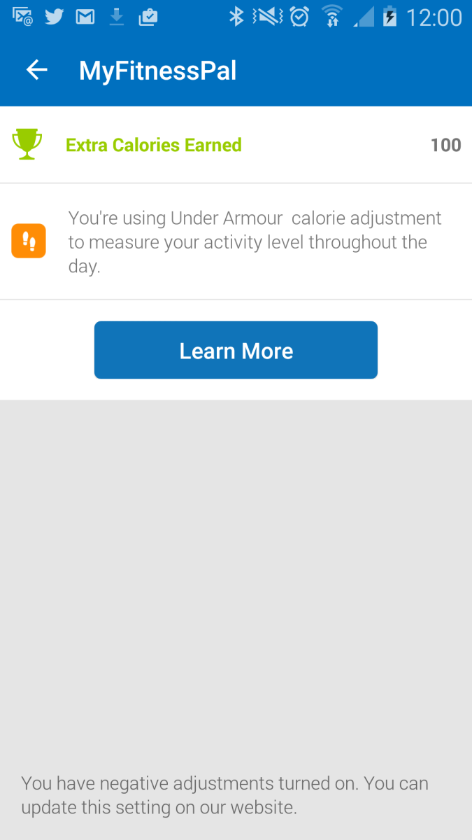 Already I have burned enough to have an extra 100 calories by the evening