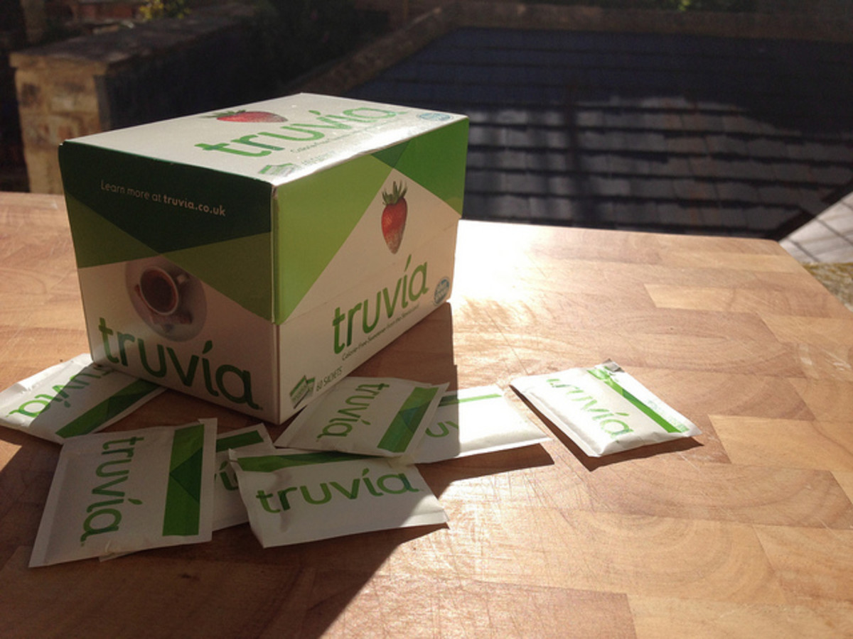 You can also use stevia as an extract, which is sold in most health stores.