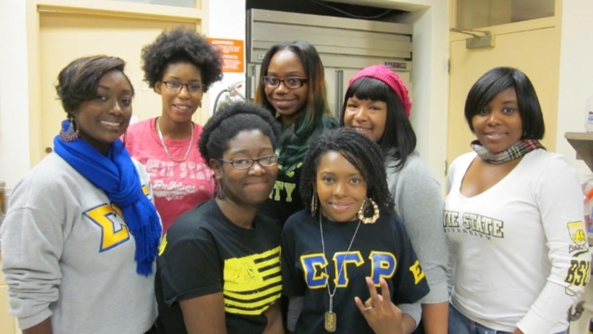 Epsilon Lambda Chapter of Sigma Gamma Rho Sorority, Inc. are students at Bowie State University.