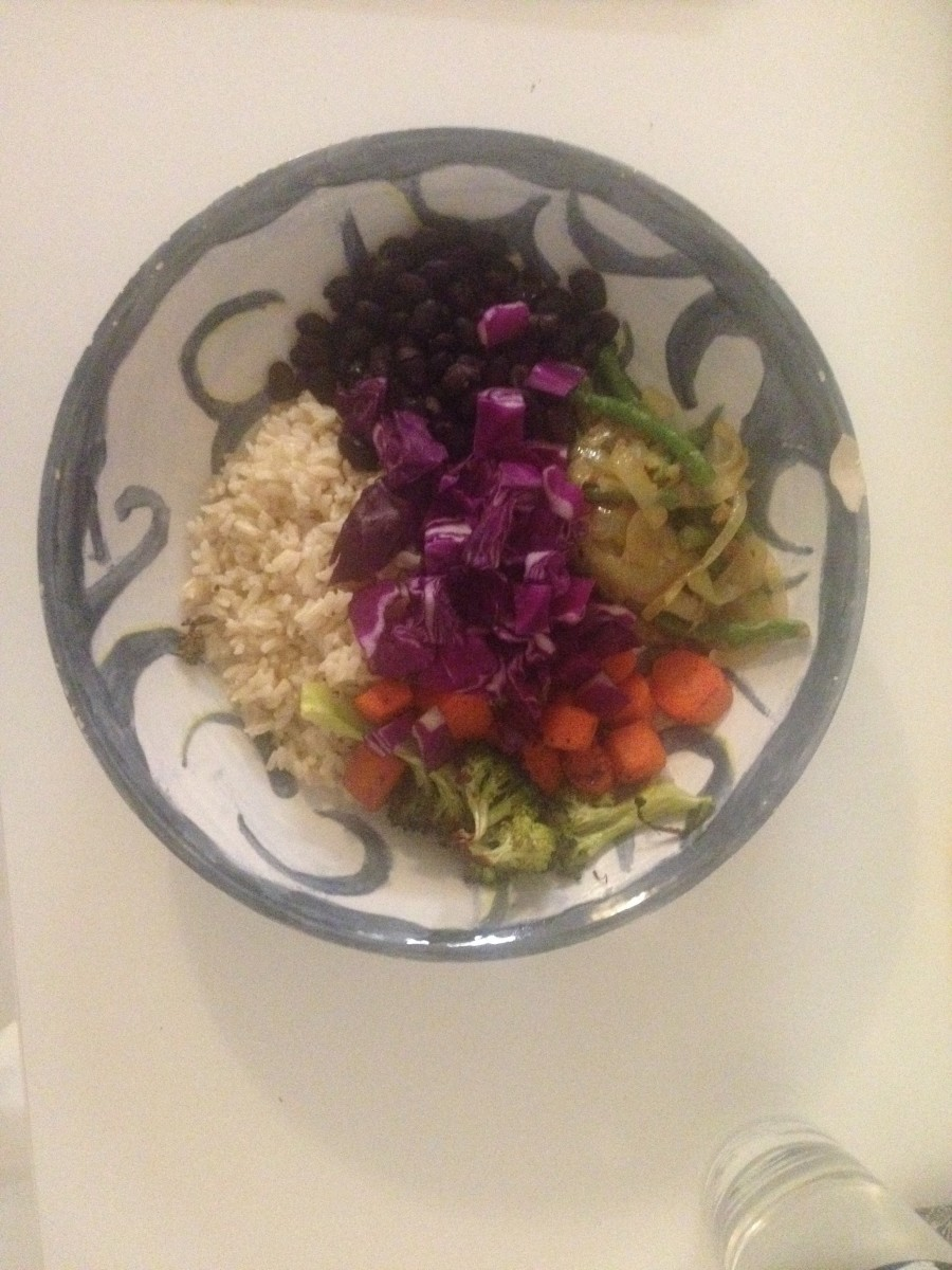 Veggie buddha bowl--great for Meatless Monday.