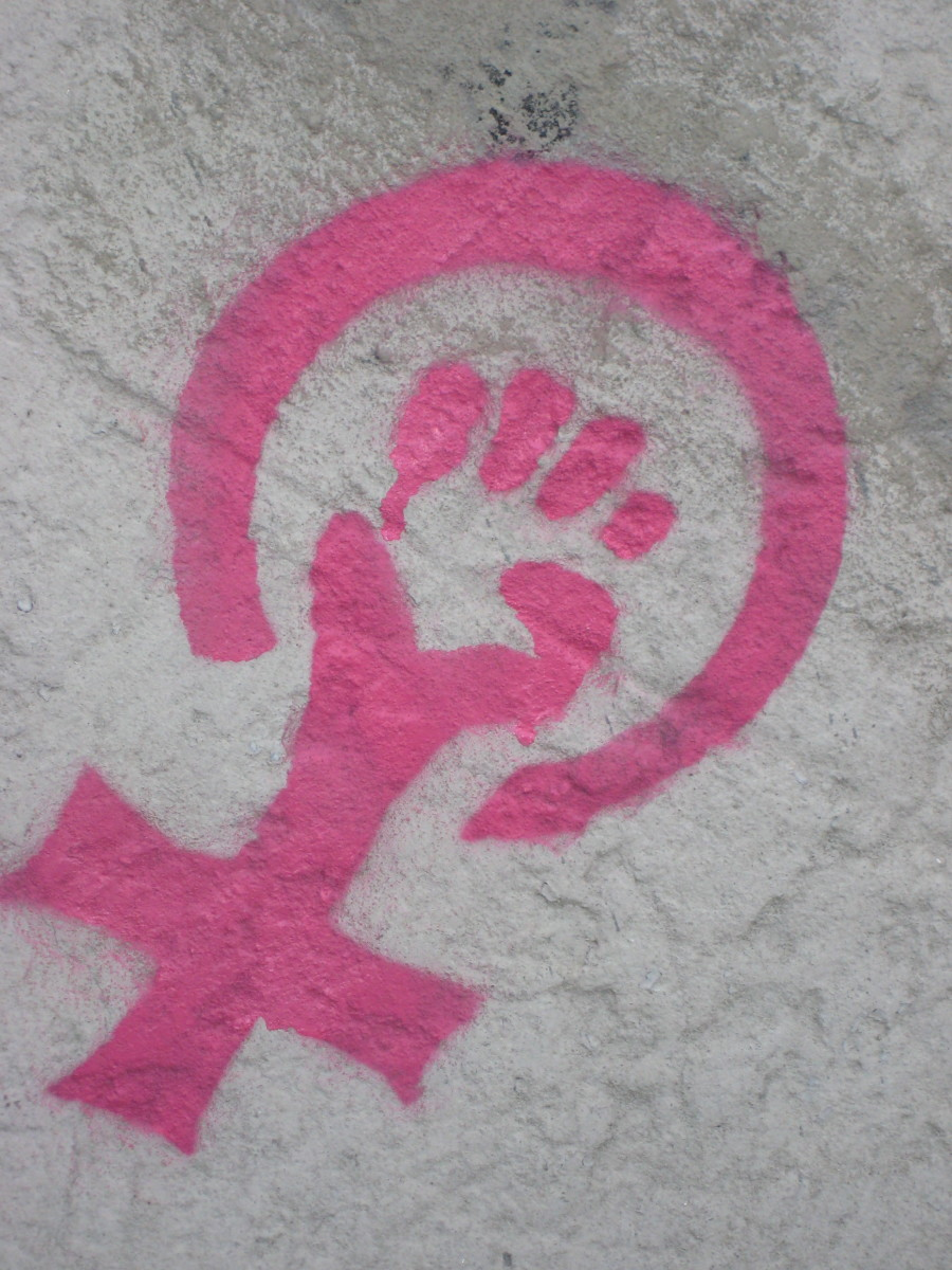 Feminist symbol, March 2010 by Lori
