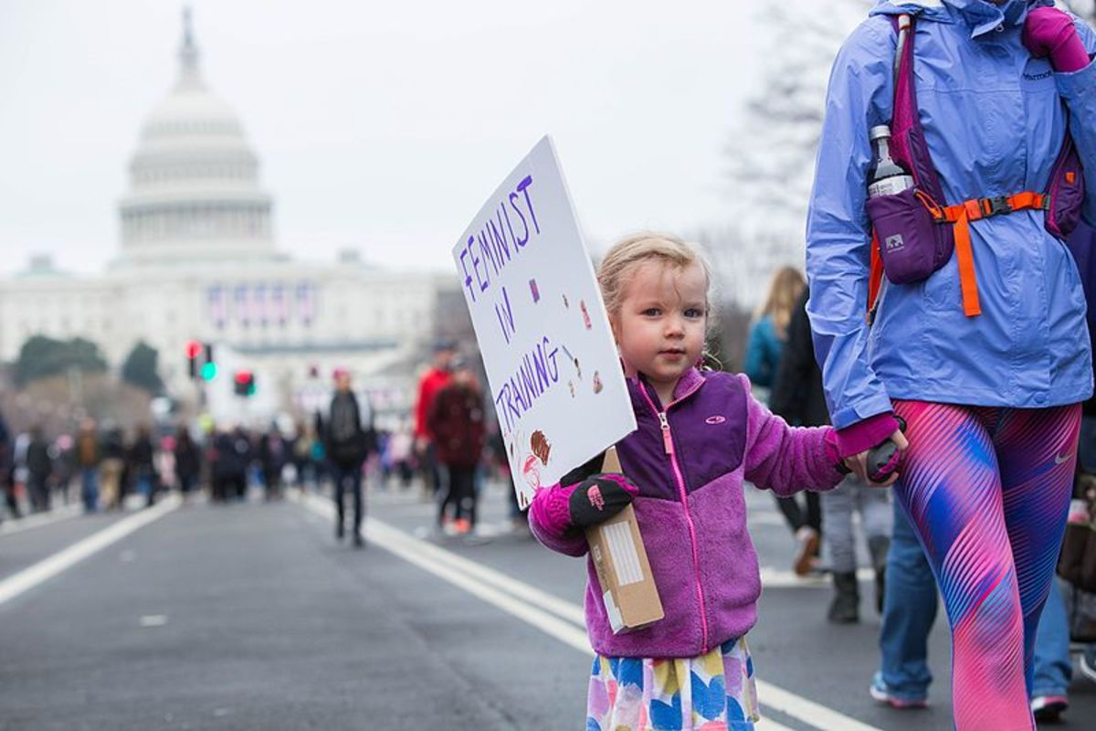 Feminist In Training - Women's March Washington D.C. January 21, 2017 by Anthony Quintano