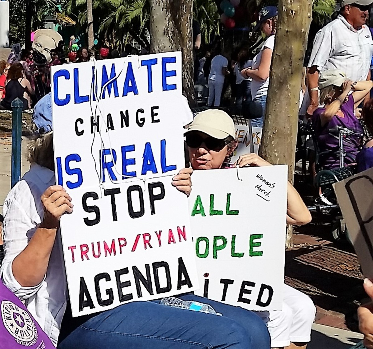 """Climate Change Is Real - Stop Trump/Ryan Agenda"""