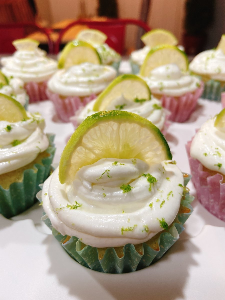 These lime coconut cupcakes are so pretty! The frosting is smooth and fluffy, and they smell absolutely divine.