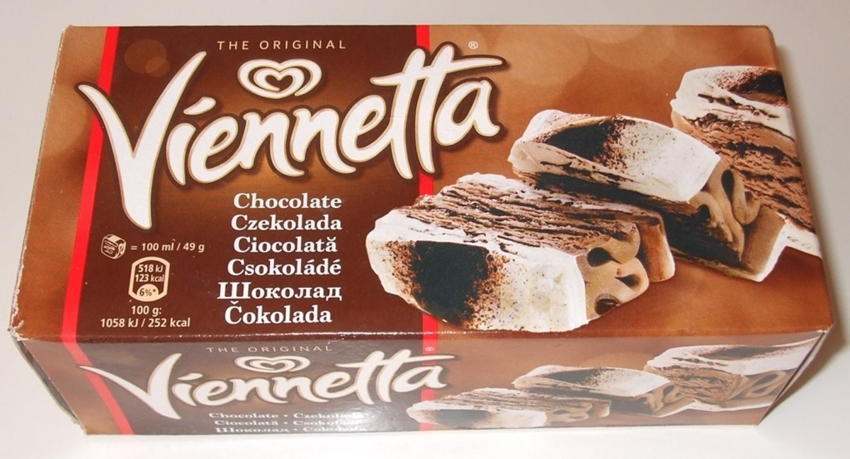 In 1982, the ice cream product Viennetta first appeared on grocery store shelves. Viennetta is sold in many flavors, including chocolate, pistachio, and mint.
