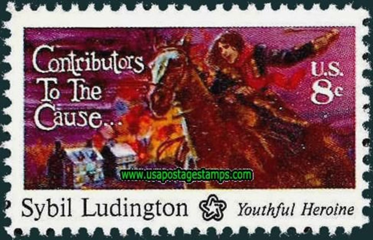 Sybil Ludington postage stamp