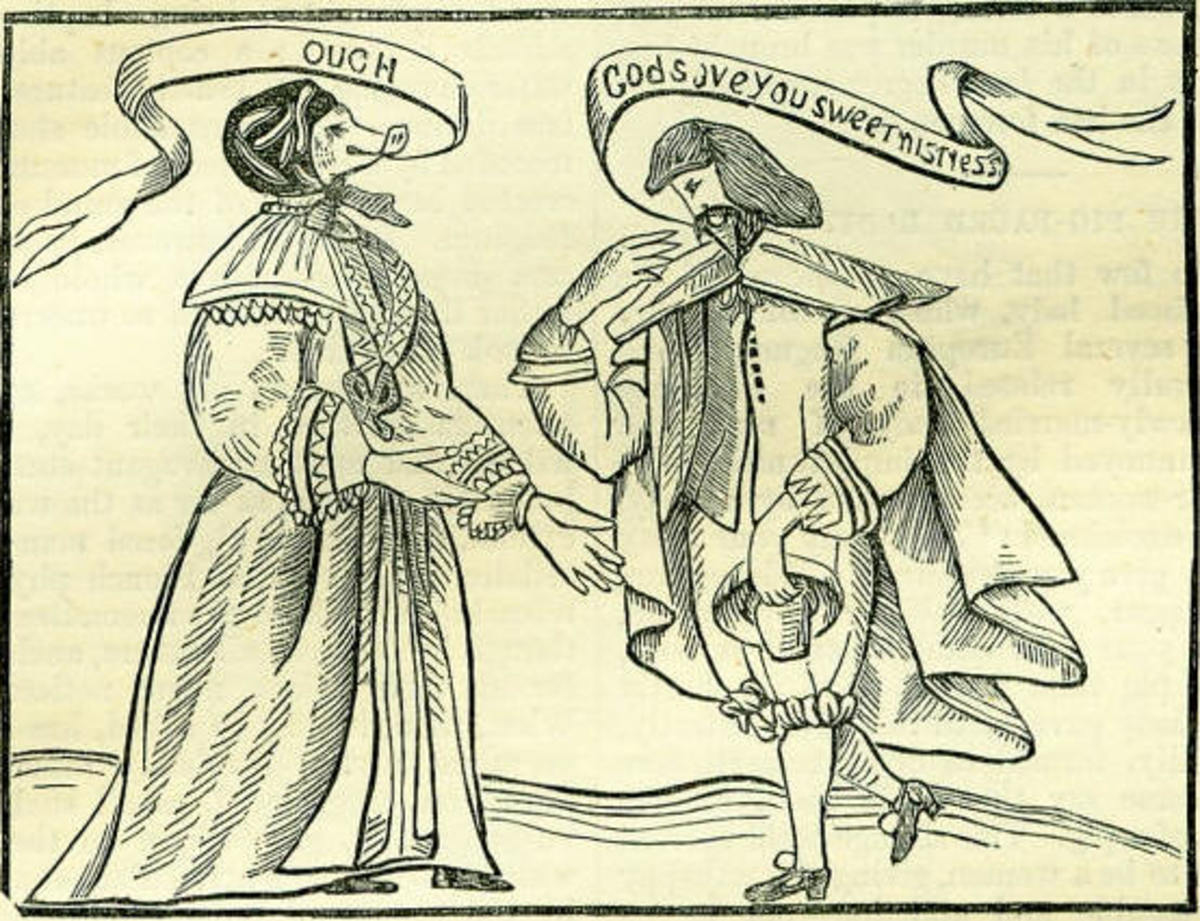Tannakin and an admirer from the 1640 pamphlet A Certaine Relation.