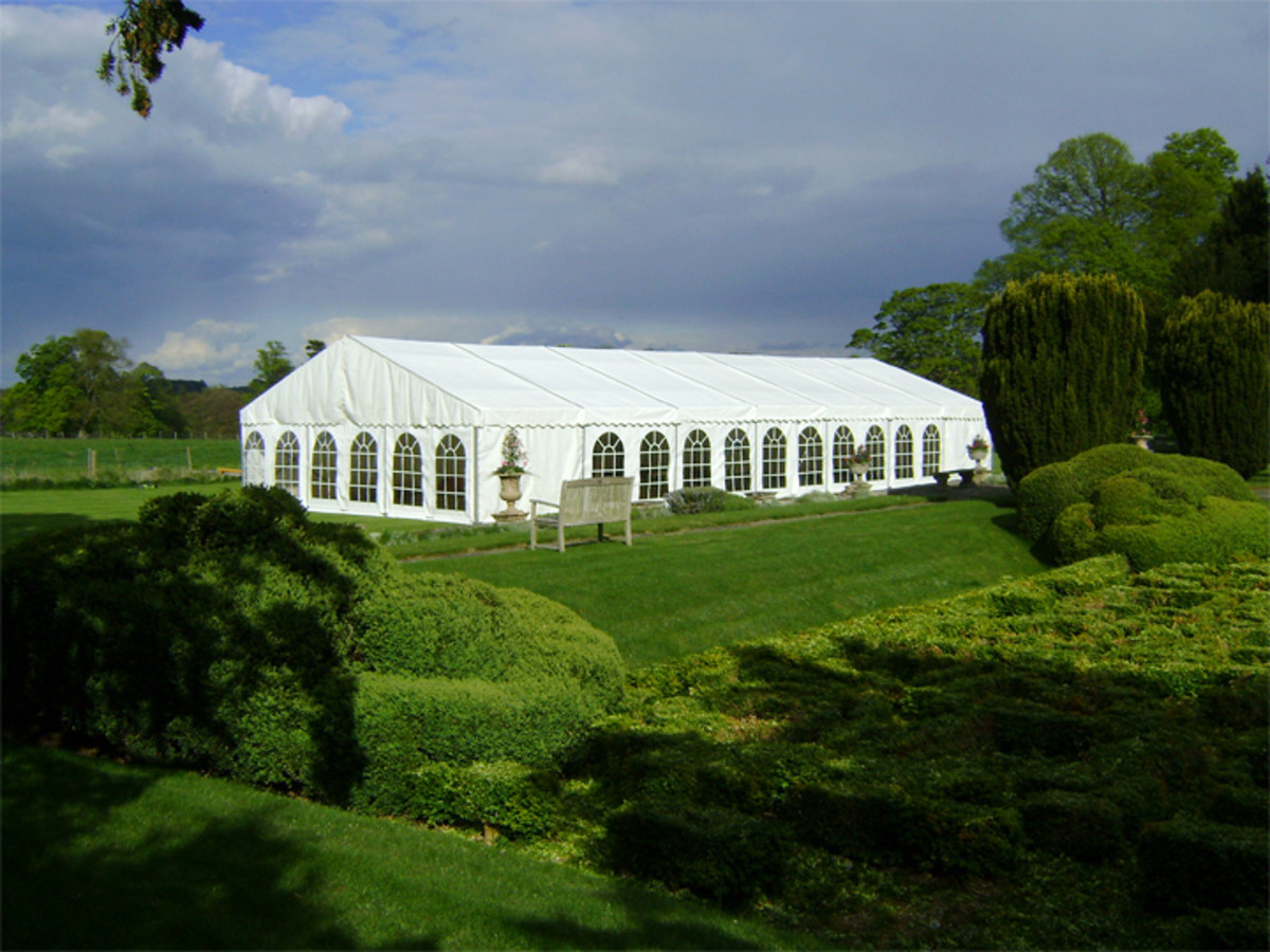 The size of your tent will depend on the number of guests you plan to accommodate and whether you need space for a buffet, DJ booth, dance floor, etc.