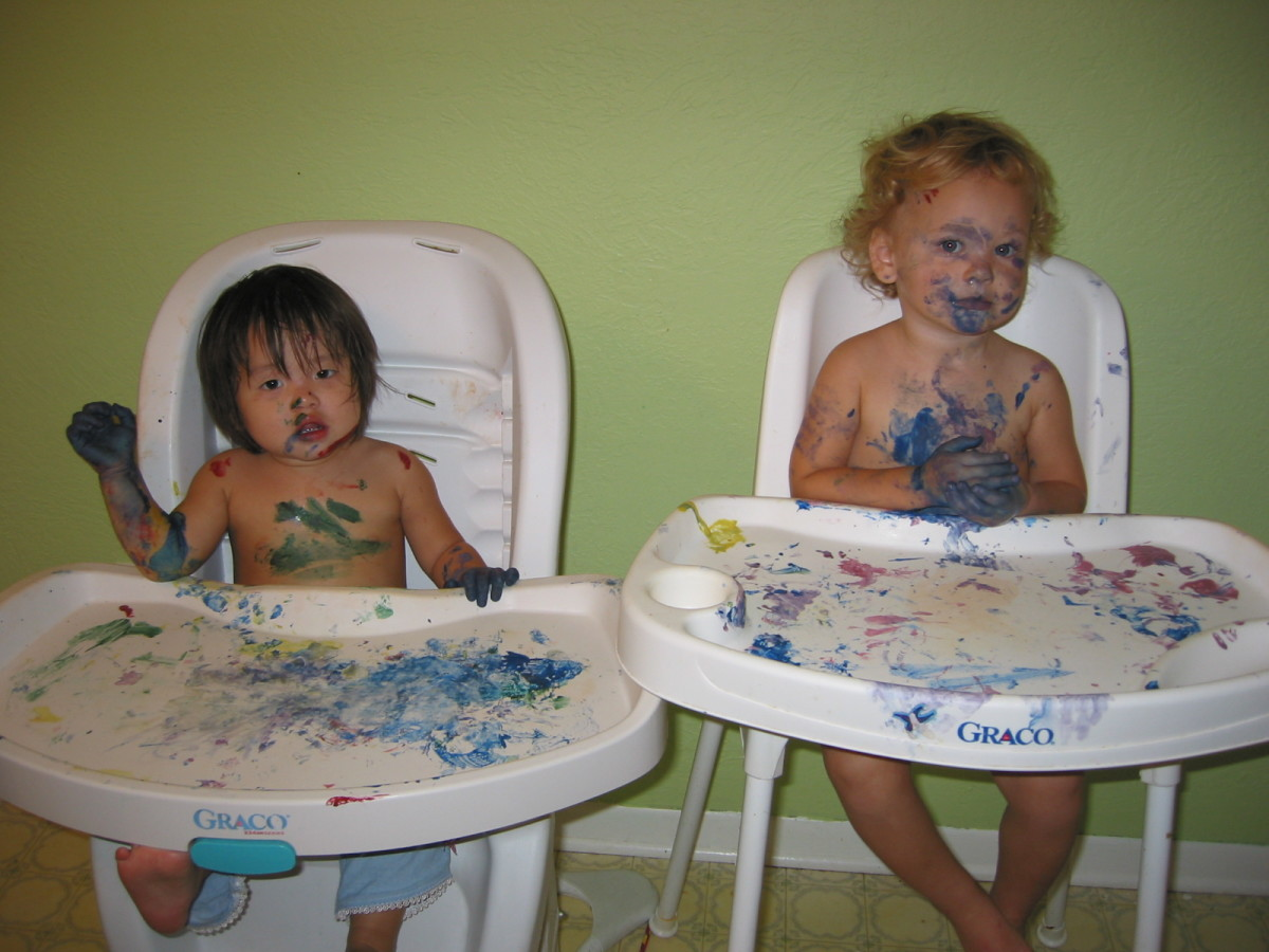 Koolaid paint--messy fun contained!
