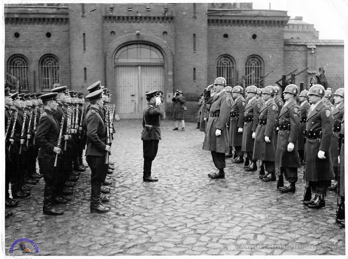 US-USSR Changing of the Guard, Spandau Prison, West Berlin, 1950
