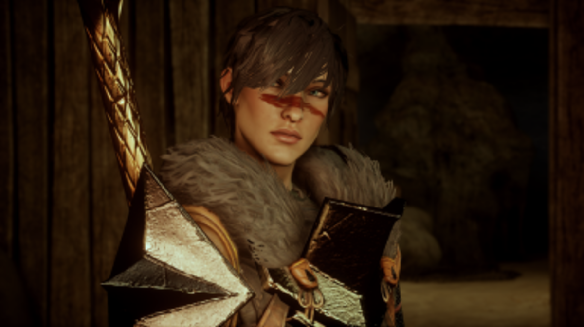 """A custom iconic female Hawke from """"Inquisition."""""""