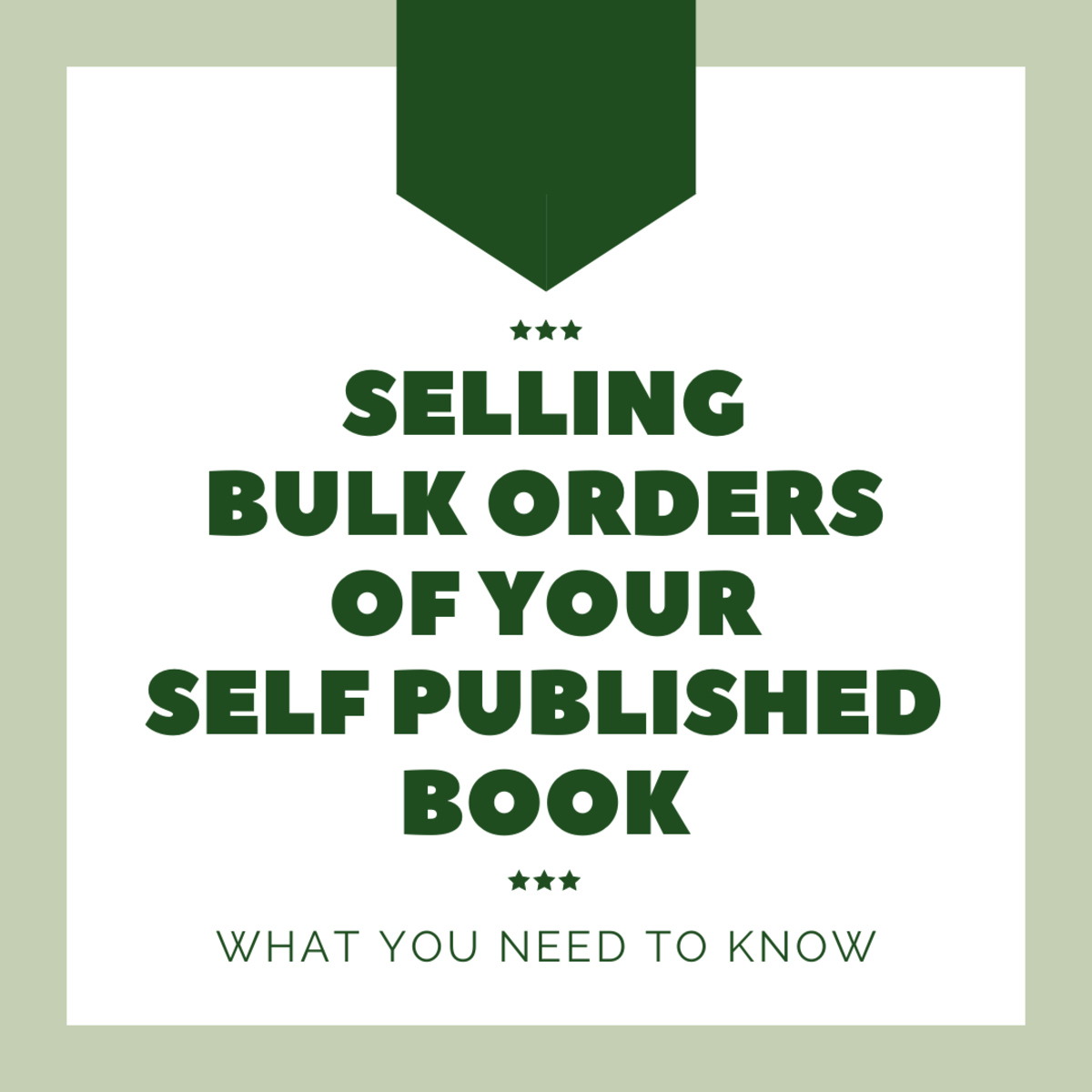 Want to sell lots of your self published books in one order? Here's what it takes.