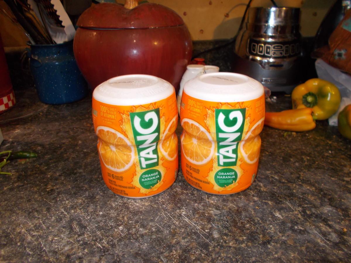 Powdered Tang provides lots of vitamin C and requires no refrigeration.