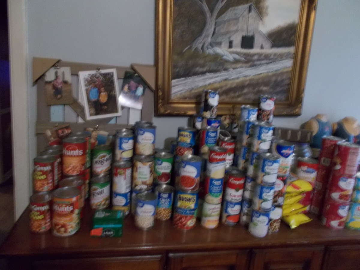 I even store canned goods on my dresser!
