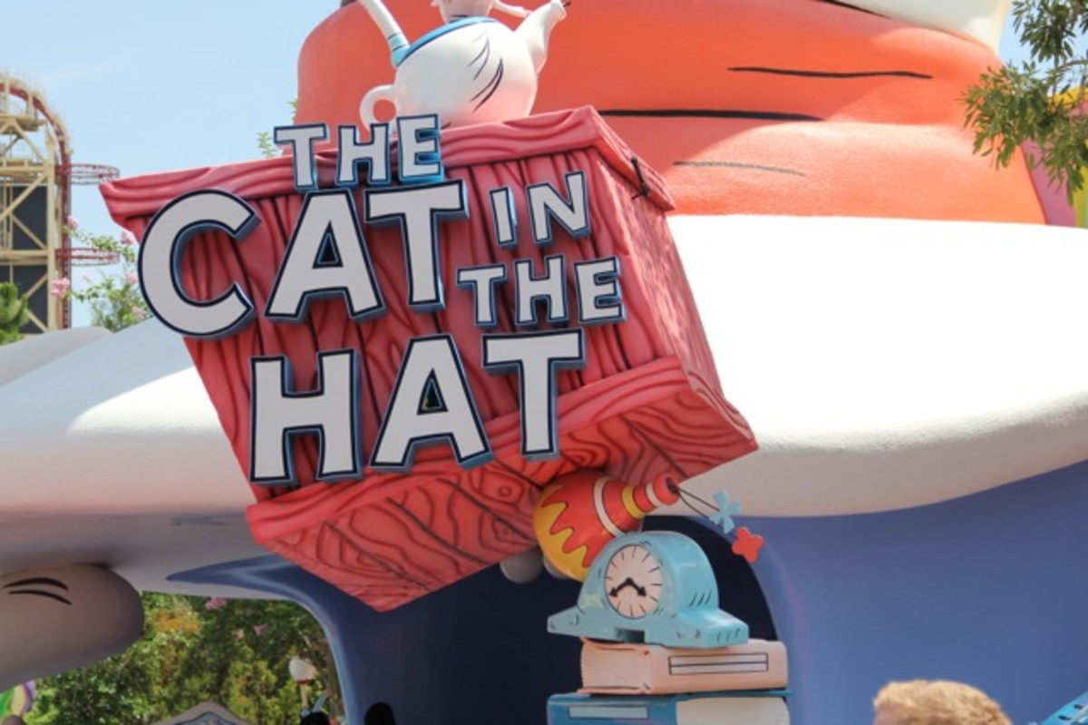 Cat in the Hat ride entrance at Universal Orlando.