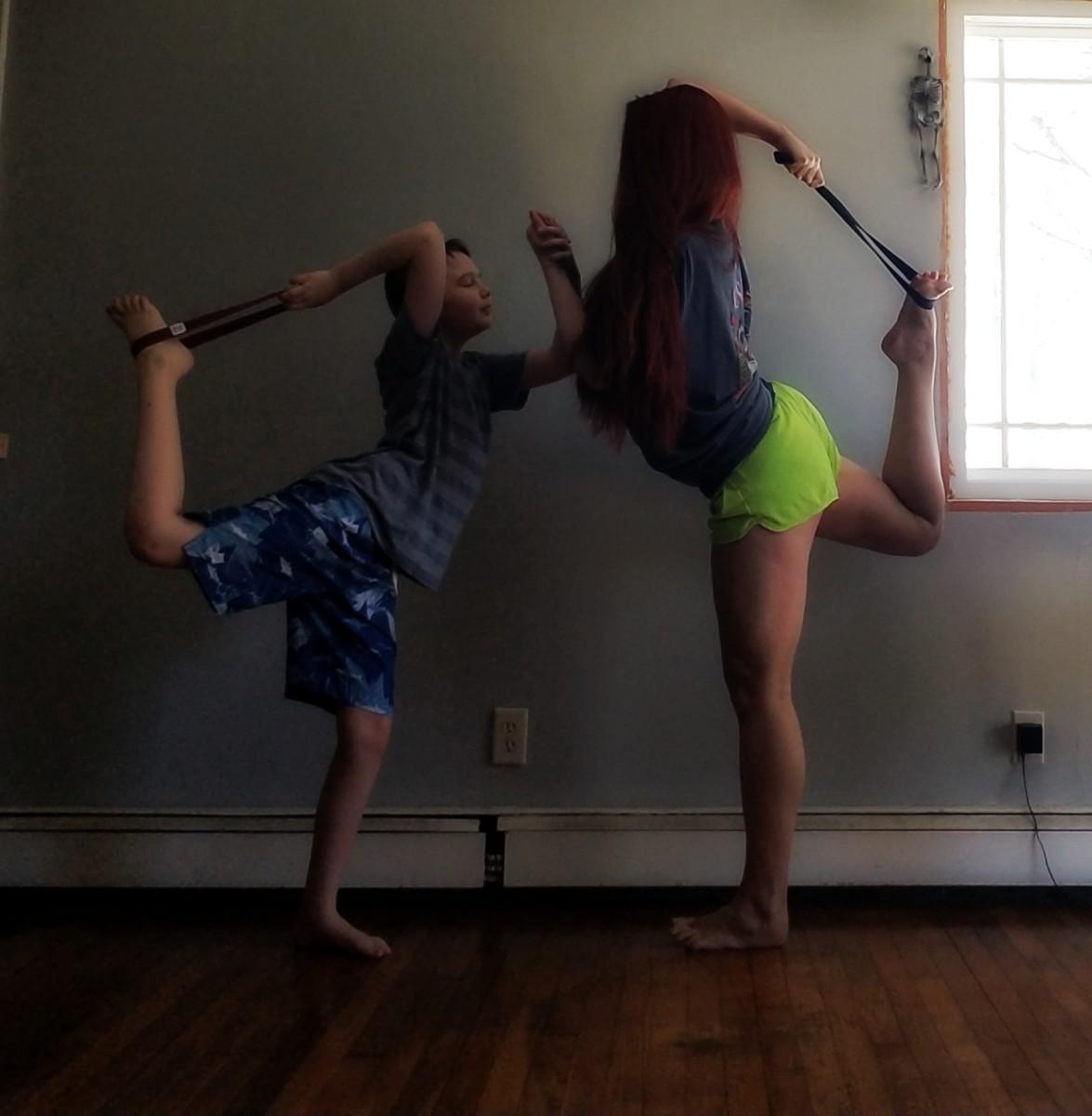 A partner dancer pose