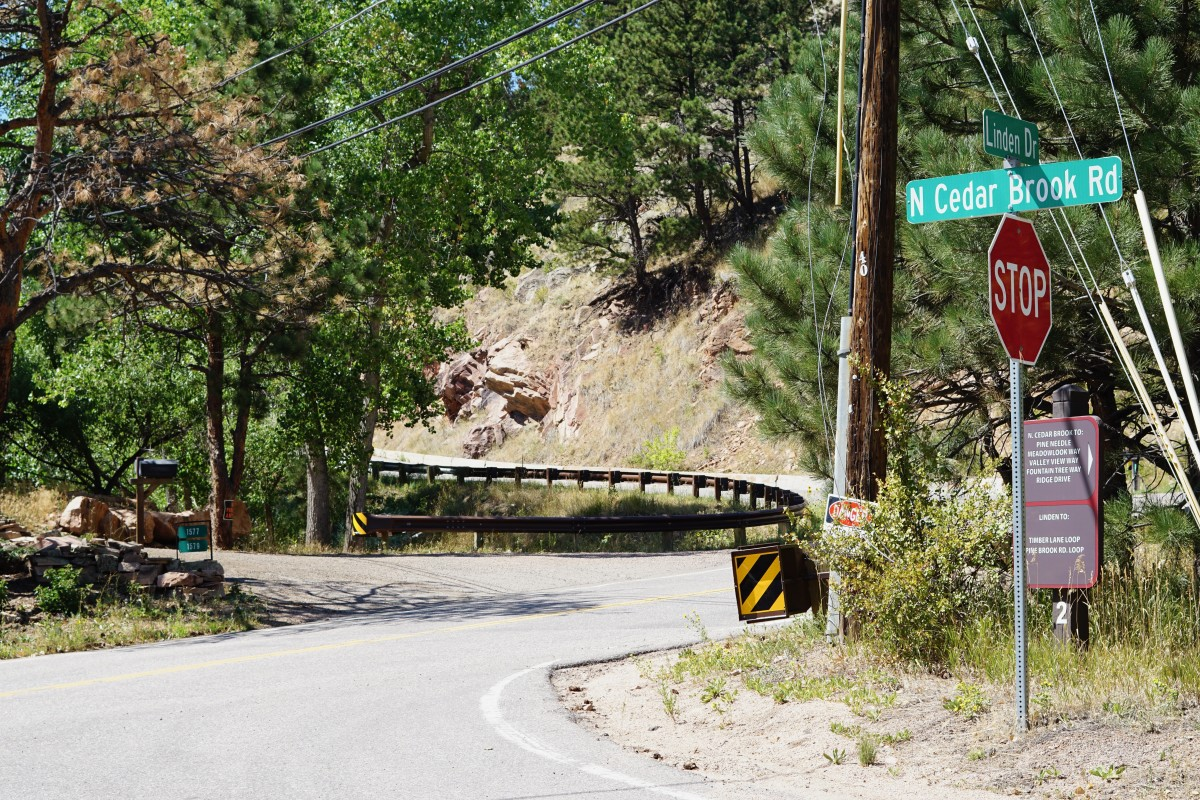 One mile uphill. Corner of Linden and N Cedar Brook