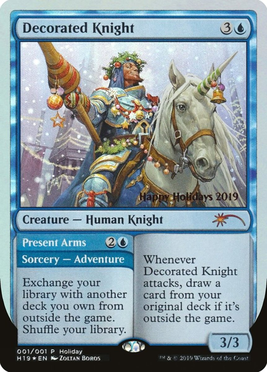 Decorated Knight/Present Arms mtg