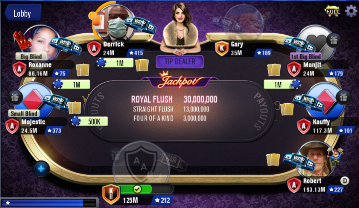 This is an example of a Crown hold 'em Powerhand Jackpot table.