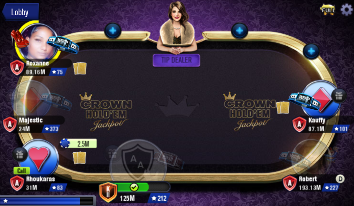 This is a Crown Hold 'em table.