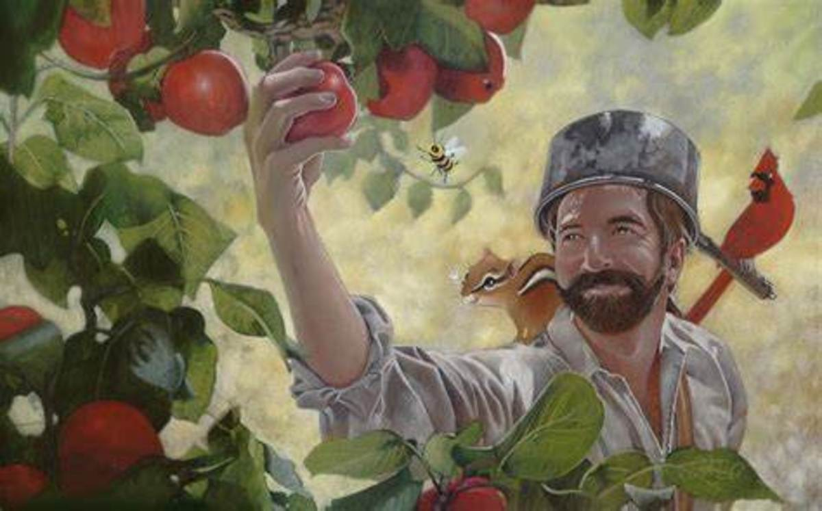 Artist Depiction of Johnny Appleseed