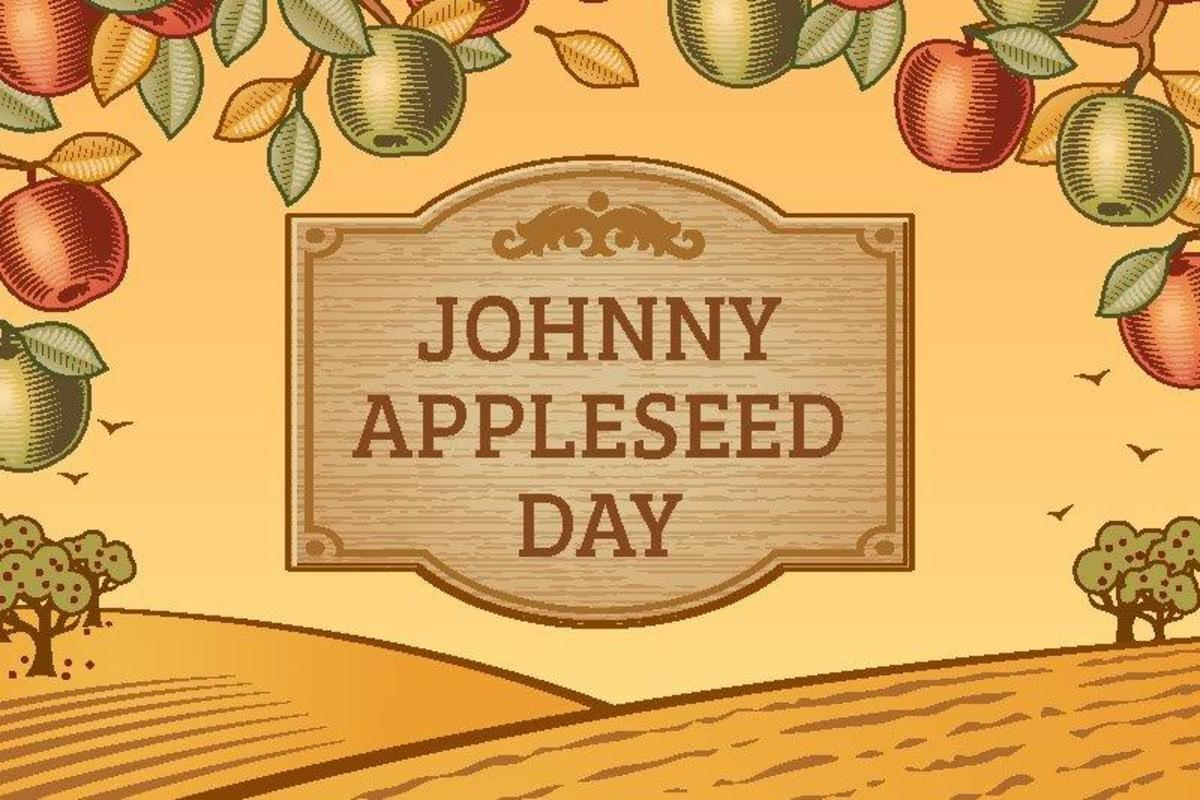 Poster about Johnny Appleseed Day
