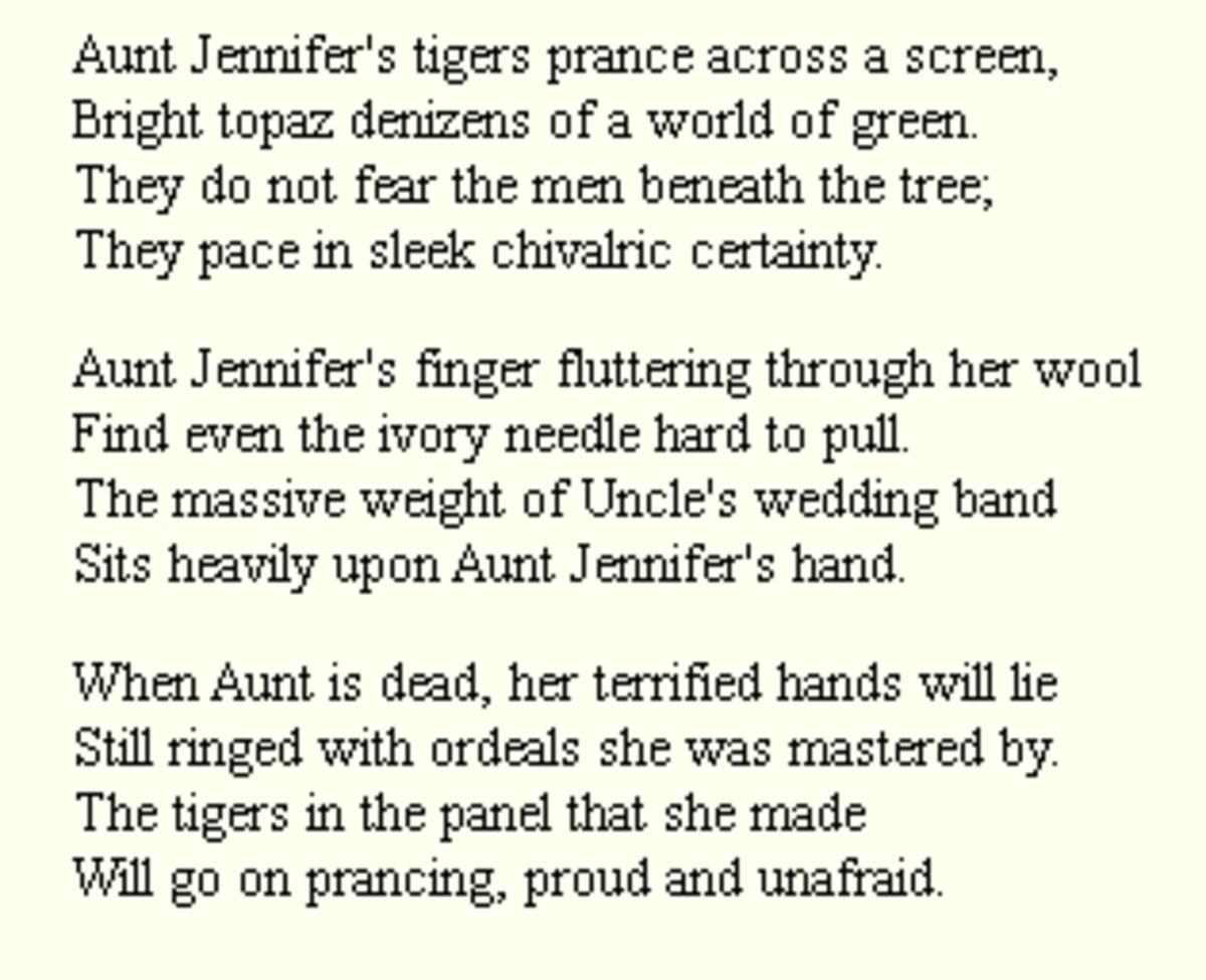 analysis-of-poem-aunt-jennifers-tigers-by-adrienne-rich