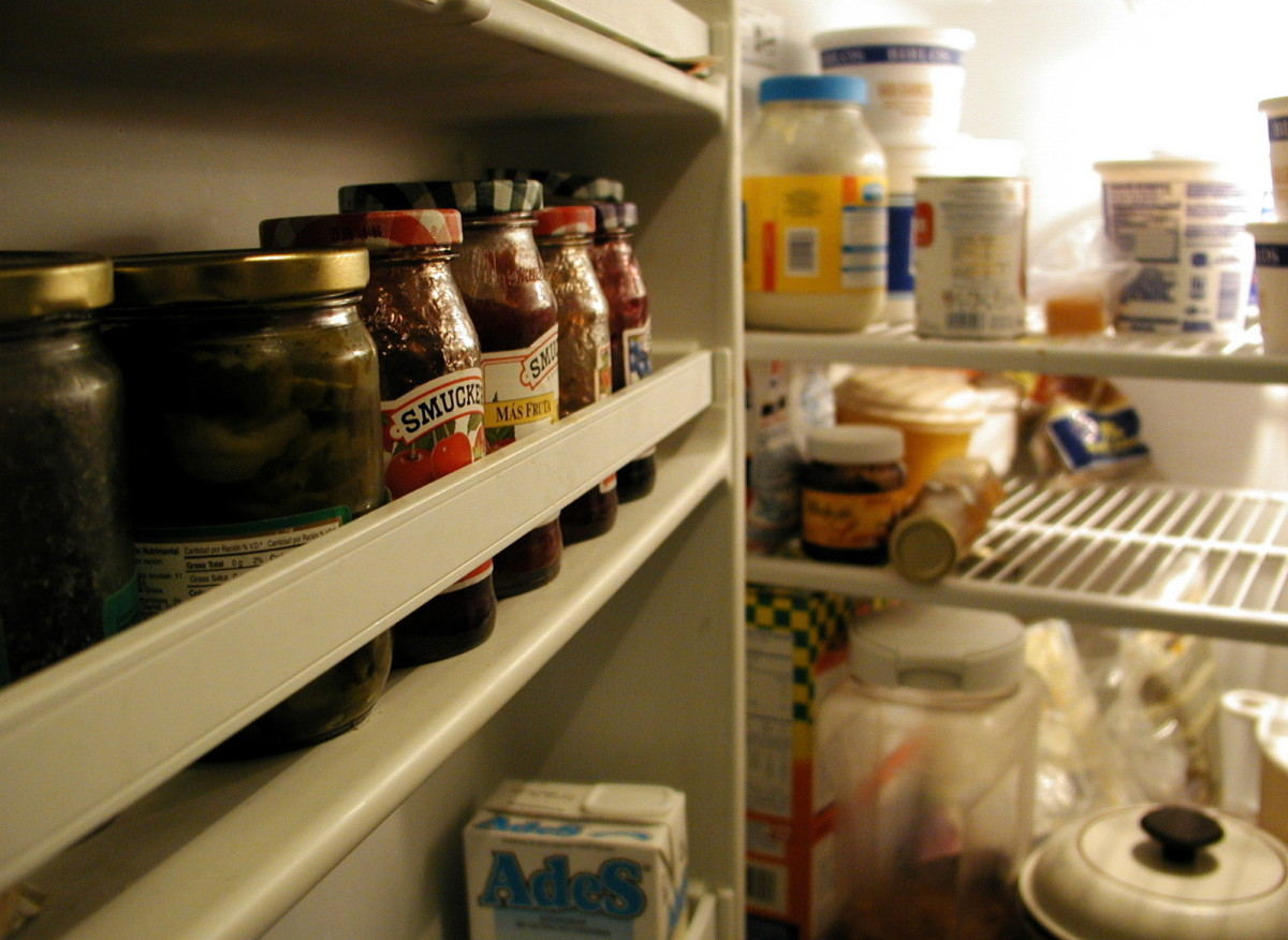 Stocked refrigerators attract ghosts.