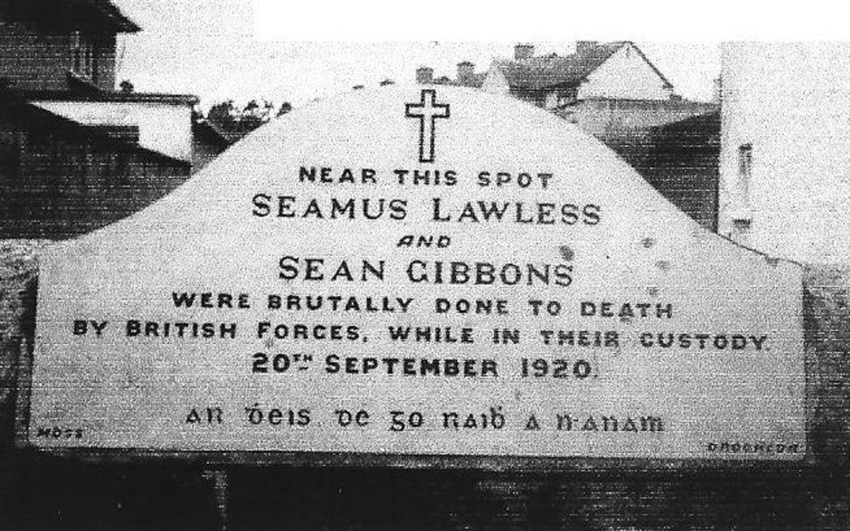 Seamus Lawless and Sean Gibbons were murdered in Ballbriggin by The Black and Tans