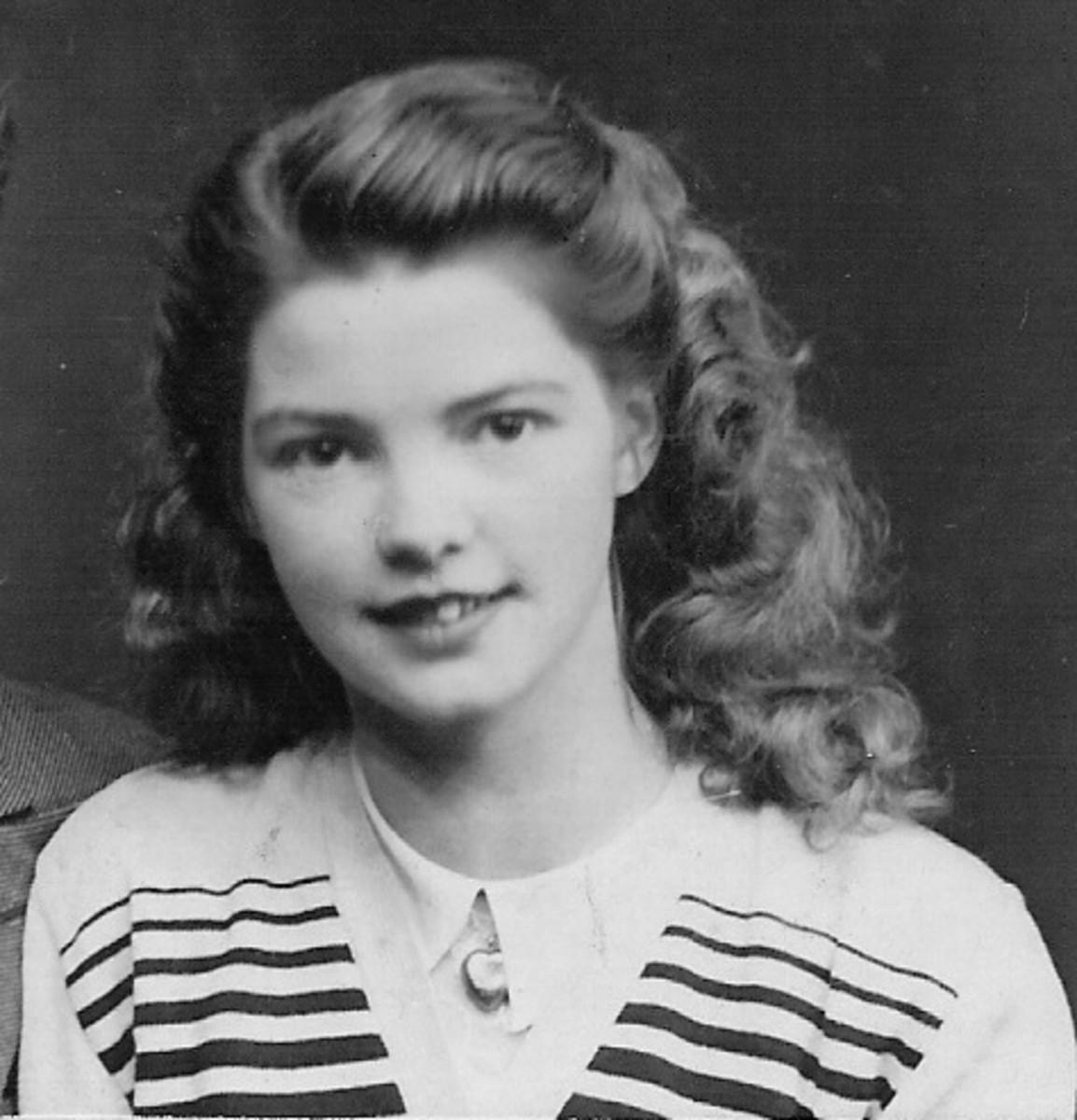 Christina Kiely in 1952 in Ireland