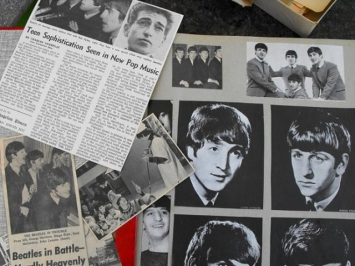 scrapbook image of the Beatles