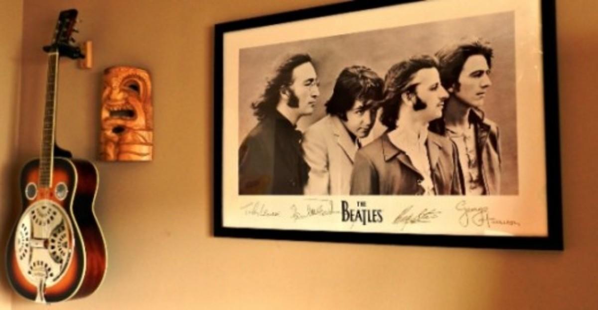 Beatles poster:image by Sherry Venegas