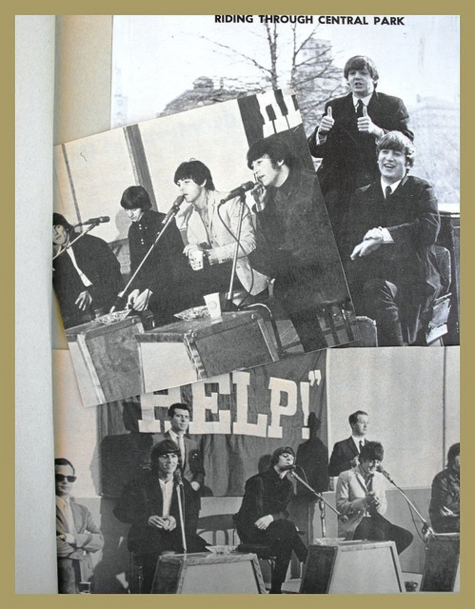 scrapbook clippings of The Beatles