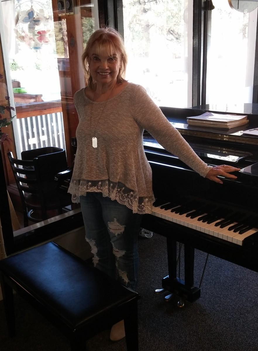 In my studio ready to welcome the day's piano students.
