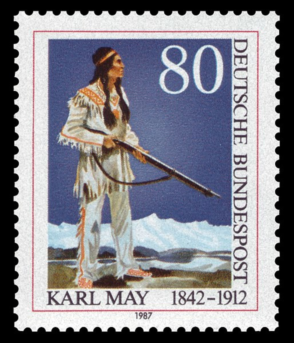 Winnetou makes it onto a German postage stamp.