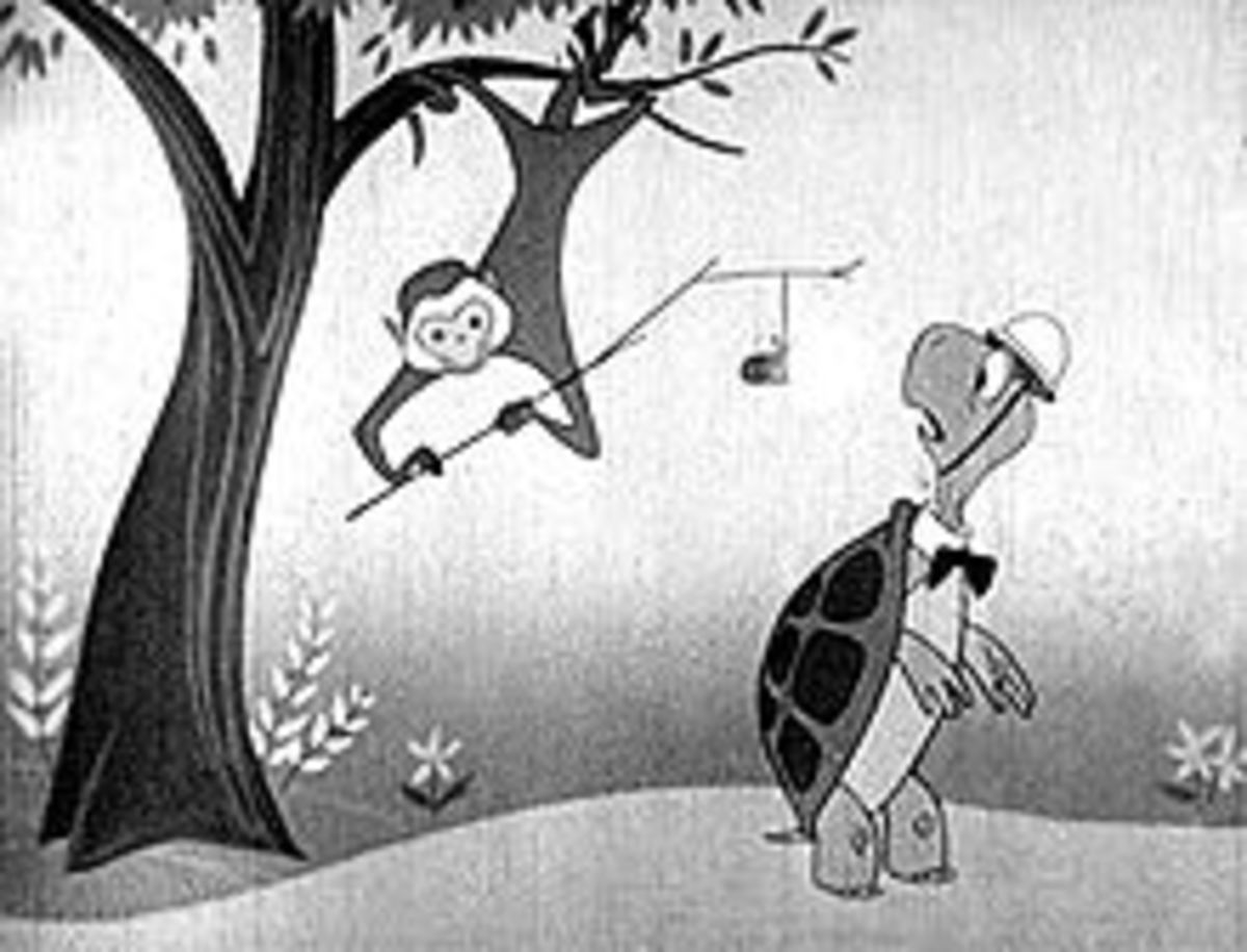 Almost humorous in the way that a cartoon turtle and monkey were used!