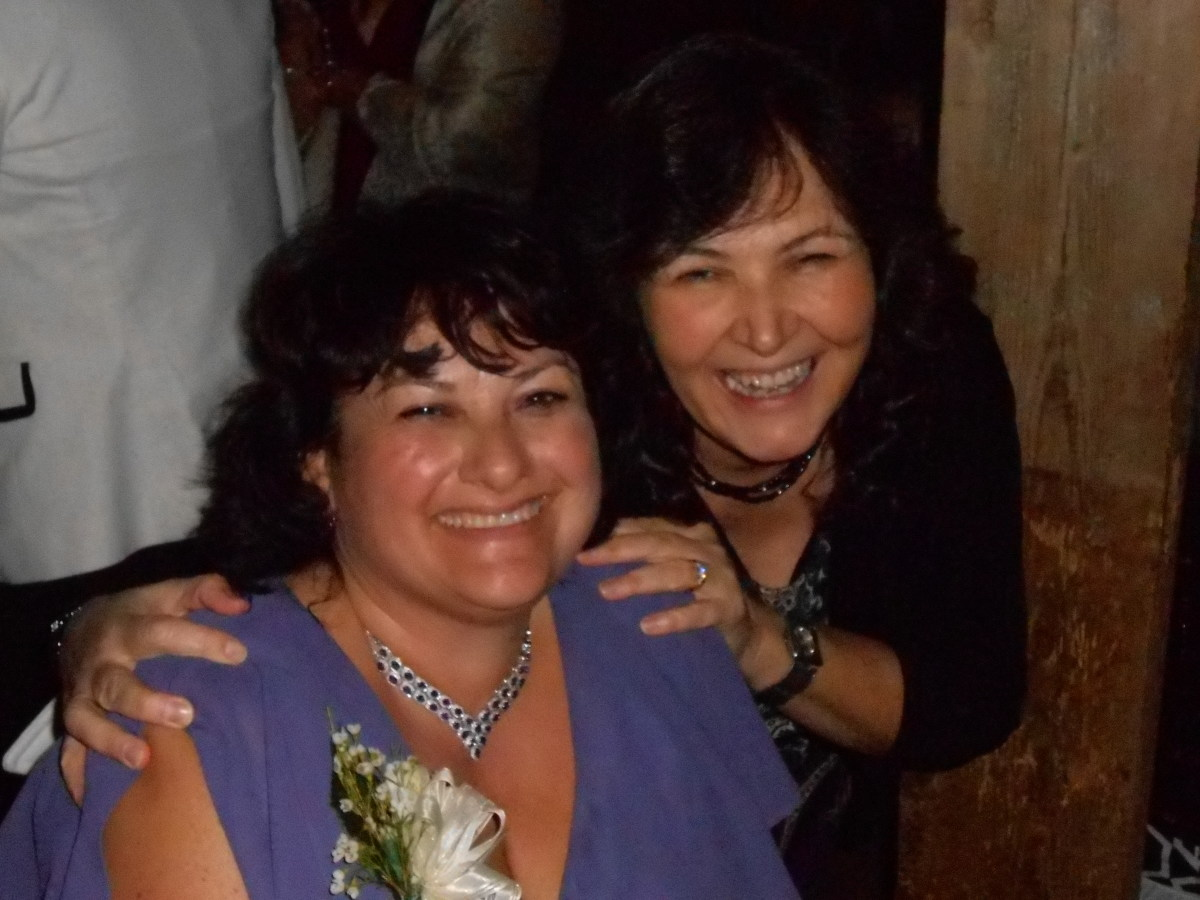 Christine and I at her son's wedding in 2014