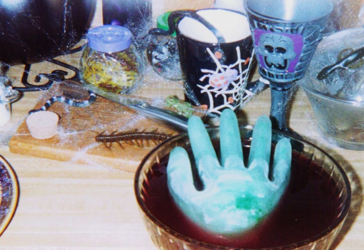 A whole counter is devoted each year to the Witch's Kitchen display.