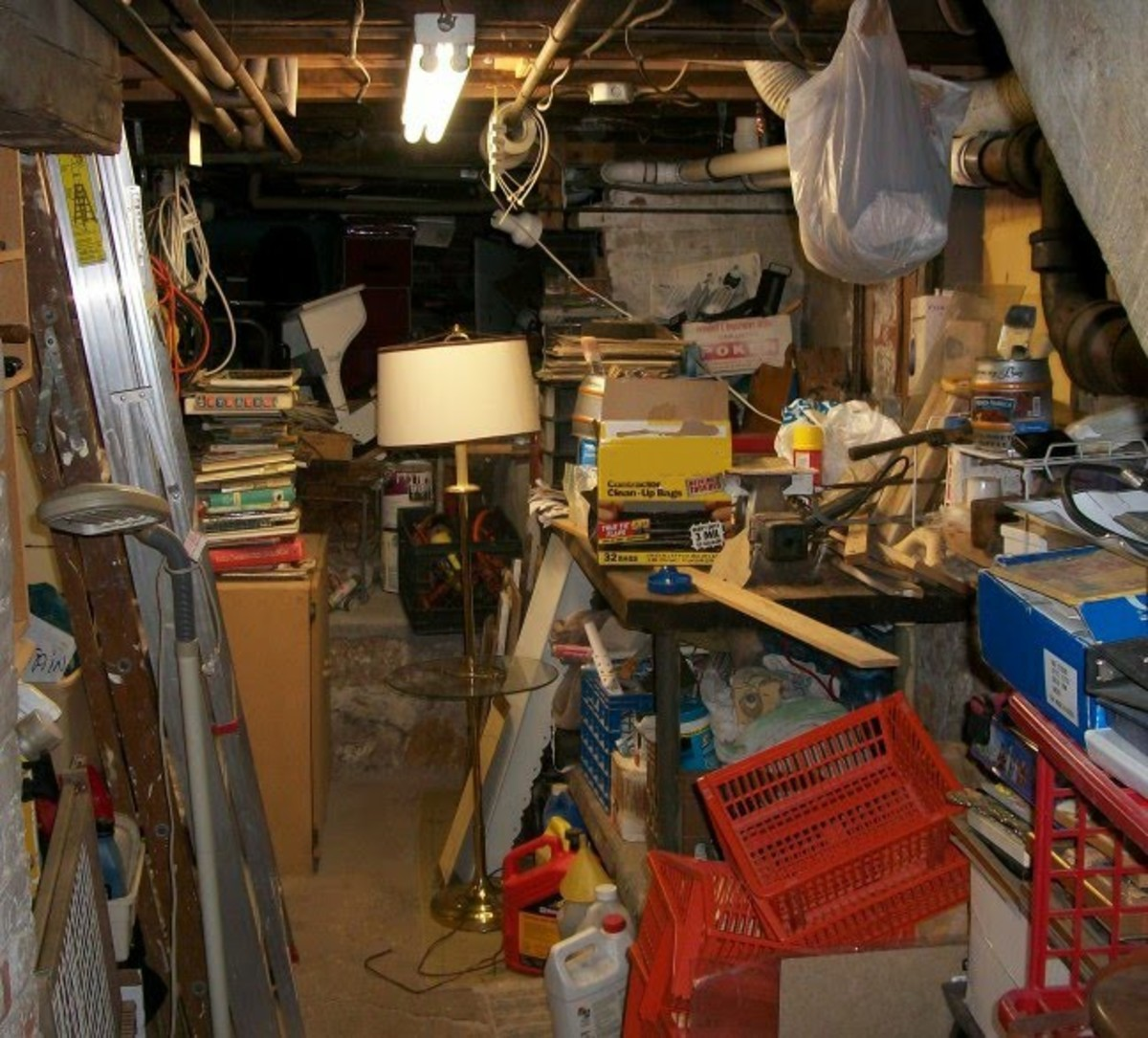 Can't seem to get around to organizing basement clutter?