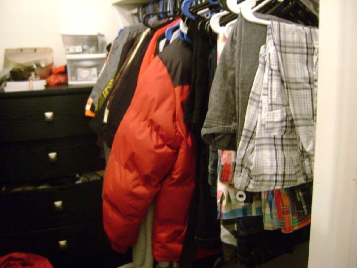 Definitely going to box up those old clothes and give them away one day soon, real soon.