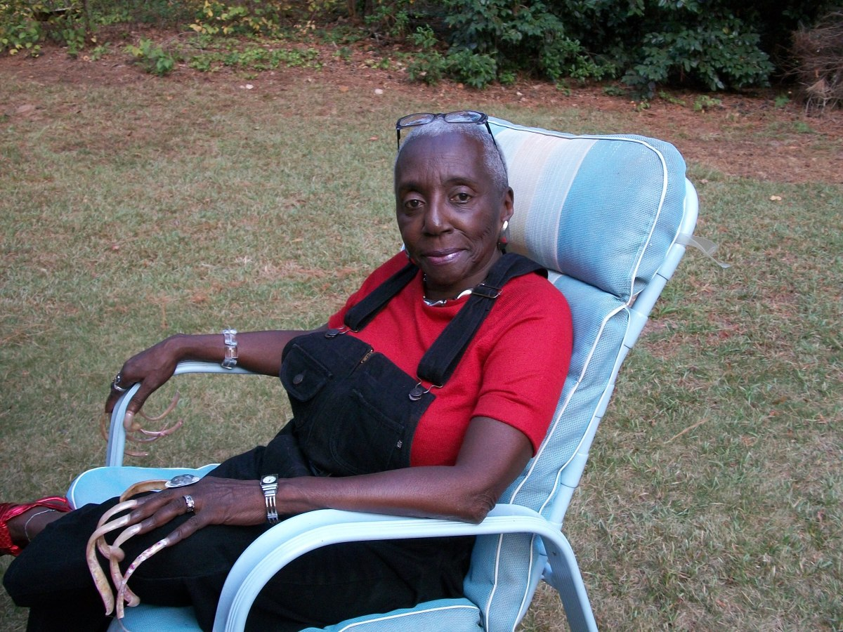 My grandma relaxing