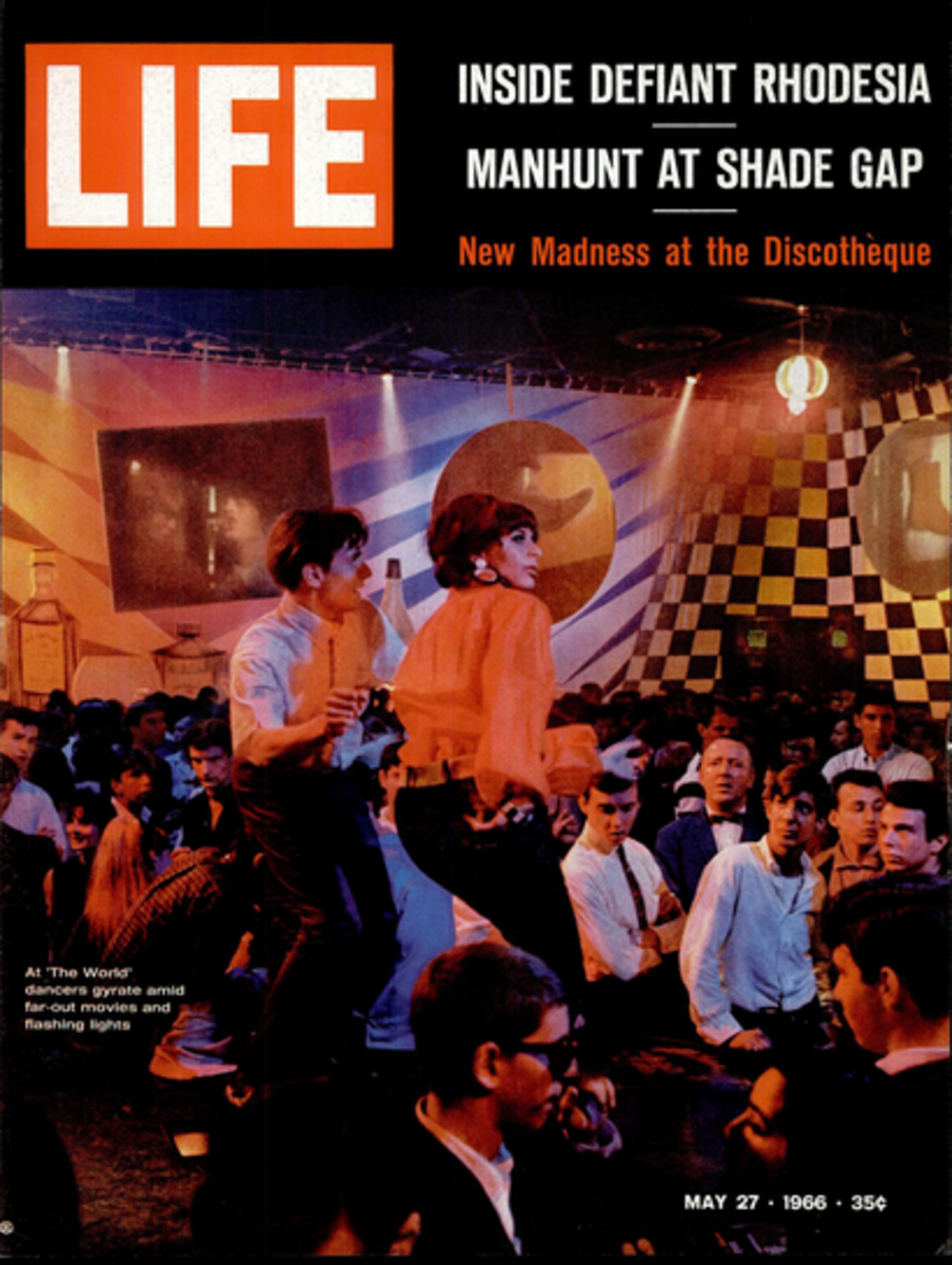 Life Magazine cover featuring the disco in the old hanger that once housed Spaceland.