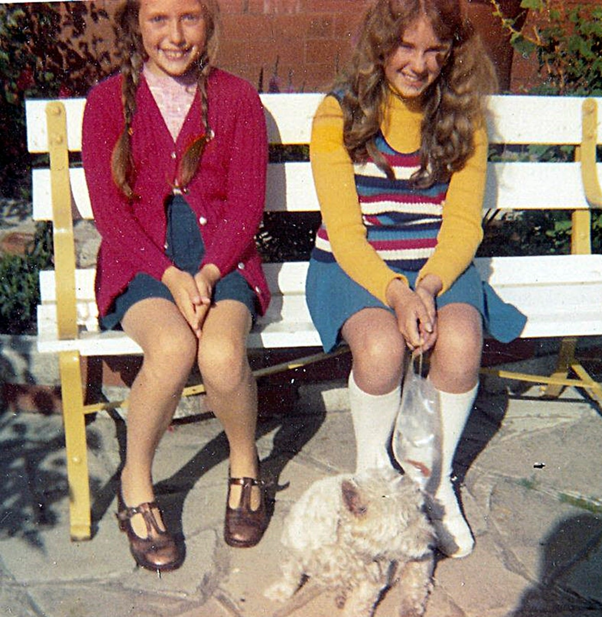 I am pictured (on the left) in my front garden in the 1970s, with my ever-faithful dog and my cousin Sharon, who had won a goldfish at the funfair. In those days, you could always win goldfish at the fair, but I'm glad it isn't common practice today.