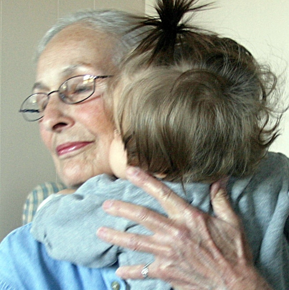 Mom with one of her great grand daughters.