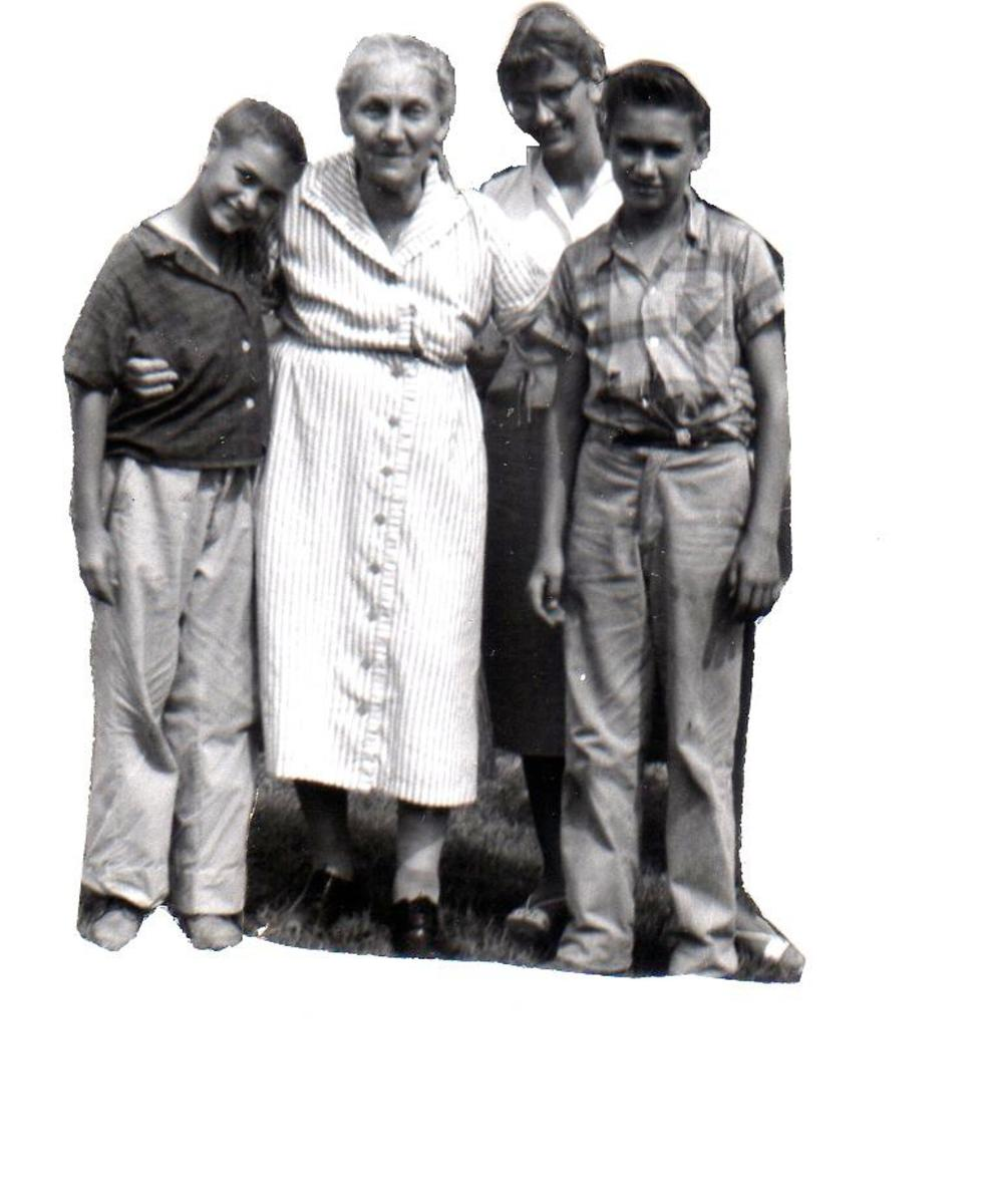 The Last time I saw Aunt Hattie, I believe my brothers saw her after this picture was taken of  my brothers and me with her.