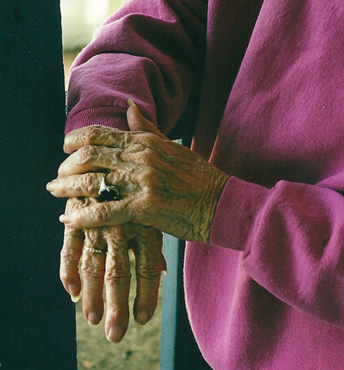 Her whole life written in her hands.