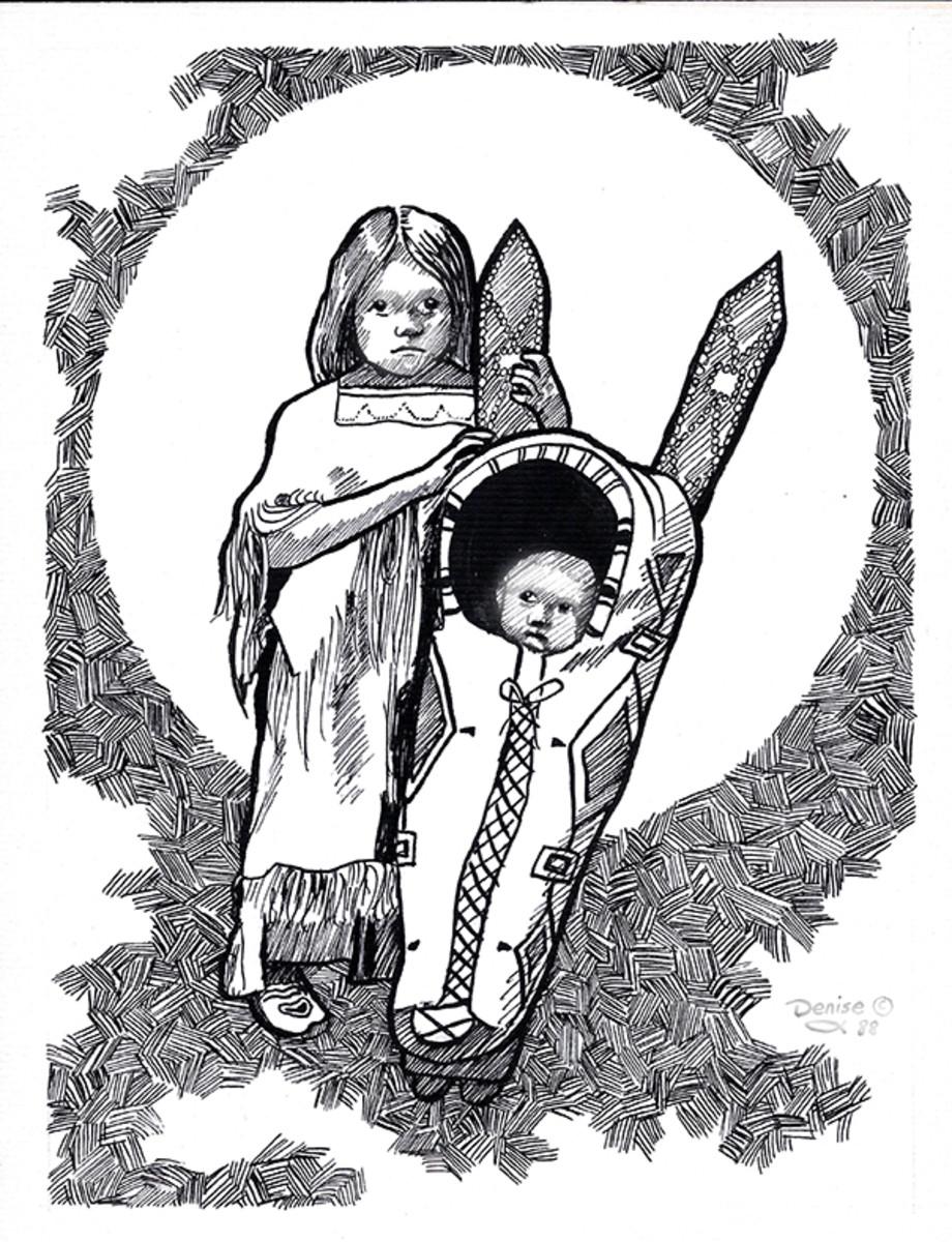 Kiowa girl and brother.